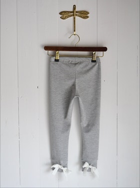 BOW LEGGINGS LIGHT GREY