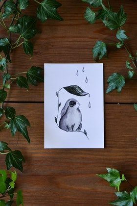 Mini-poster/kort RAIN