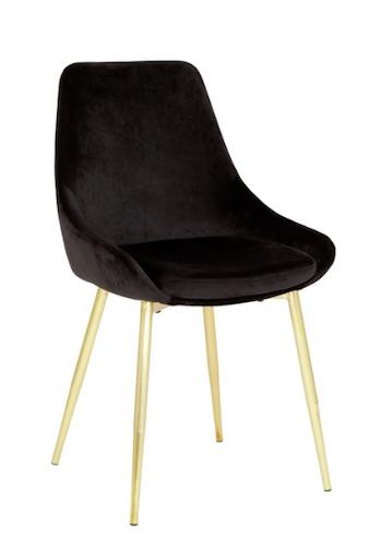 Theo stol Svart/Guld