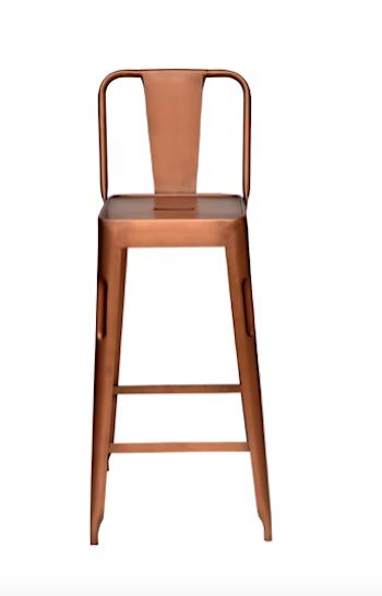 Barstol med rygg, antikkoppar