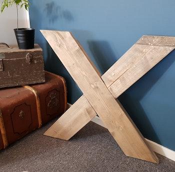 Fläder Matbord med Infällda ben
