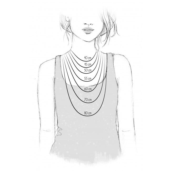 Halsband lila Agat pendel