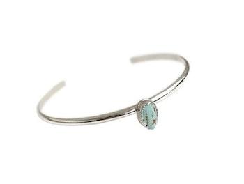 Cuff armband med Turkos sten silver