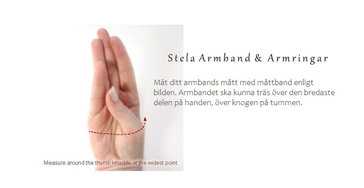 Bangle armband med berlock silver