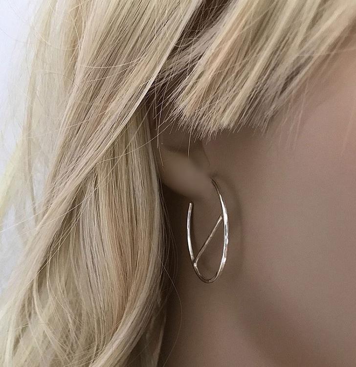 Örhängen hoops silver