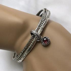 Armringar med berlock 925 silver