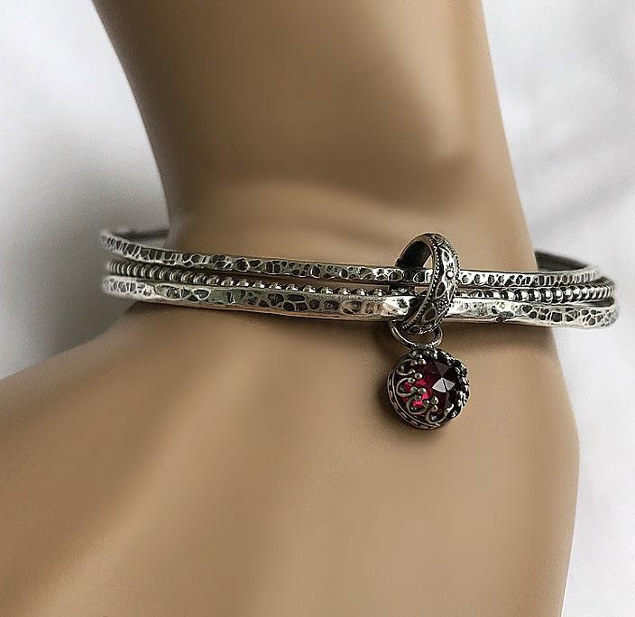 Armband set med armringar i äkta silver