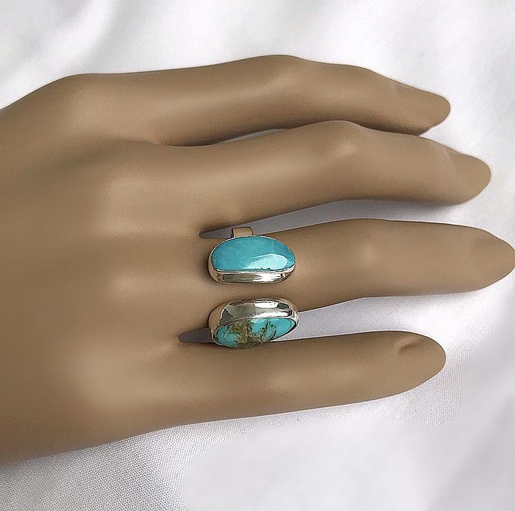 Kingman turkos ring äkta silver