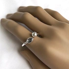 Svart Turmalin ring silver