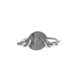 Bokstavsring 925 silver