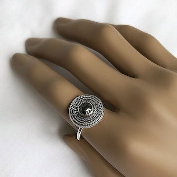 Pyrit ring 925 silver