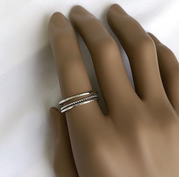 Tunnar ringar i äkta 925 sterling silver
