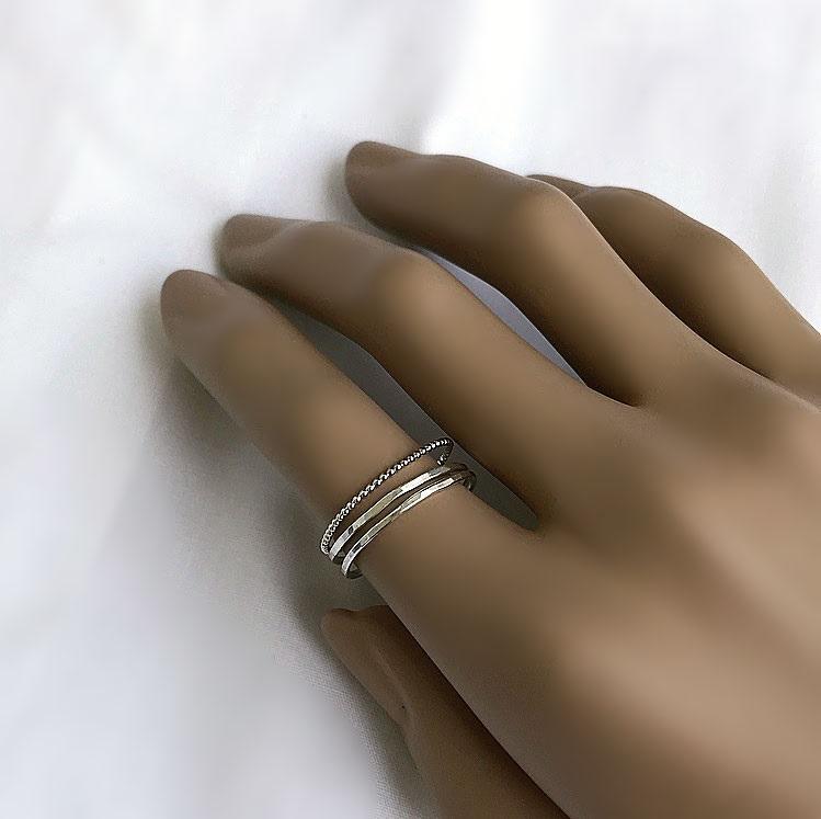 Smala nätta silverringar äkta silver