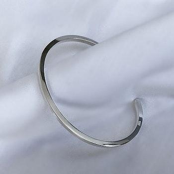 Stelt silverarmband herr