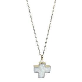Halsband med vitt kors