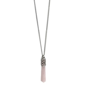 Halsband med rosa hänge Rosenkvarts