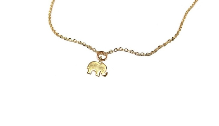 Elefant halsband med kedja.