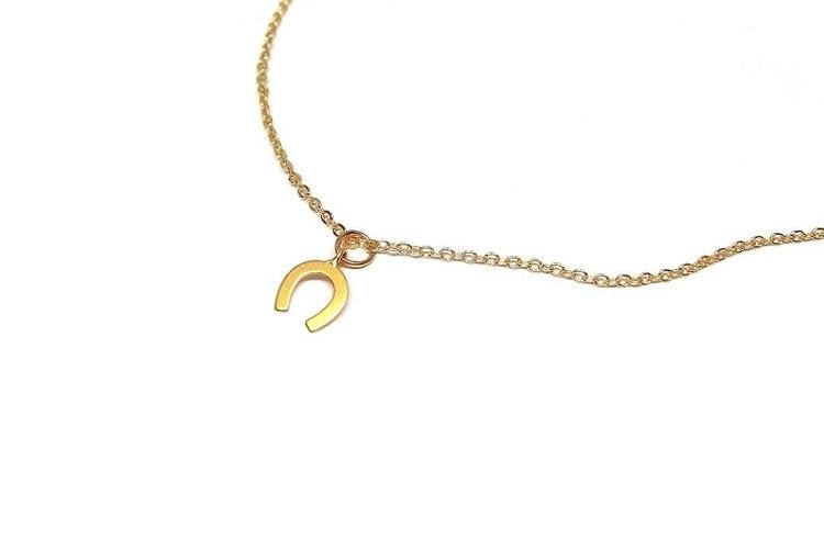 Halsband med liten hästsko