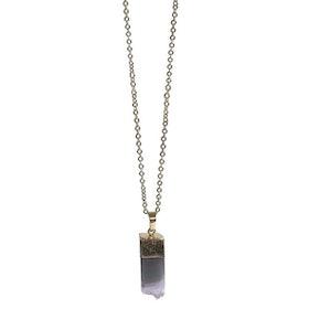 Guldpläterat halsband med Ametist hänge