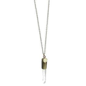 Crystal bullet halsband guld