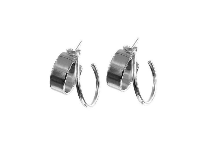 Hoop örhängen runda ringar silver