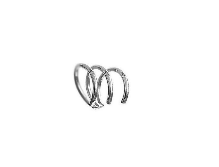 Ear cuff örhänge 3 i 1 äkta silver