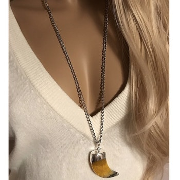 Halsband med gult hänge