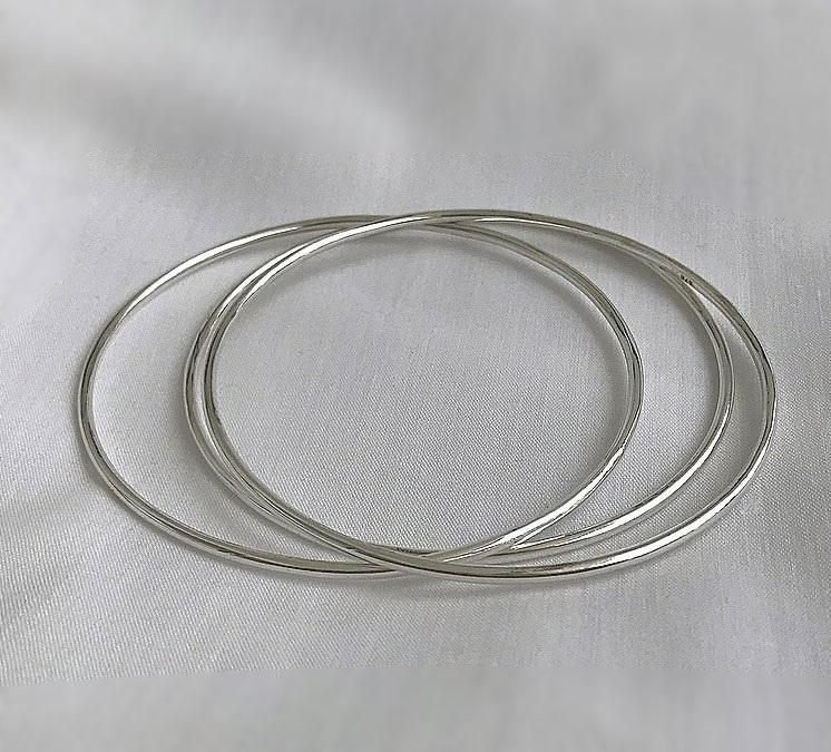 Flerpack bangle armband i äkta silver