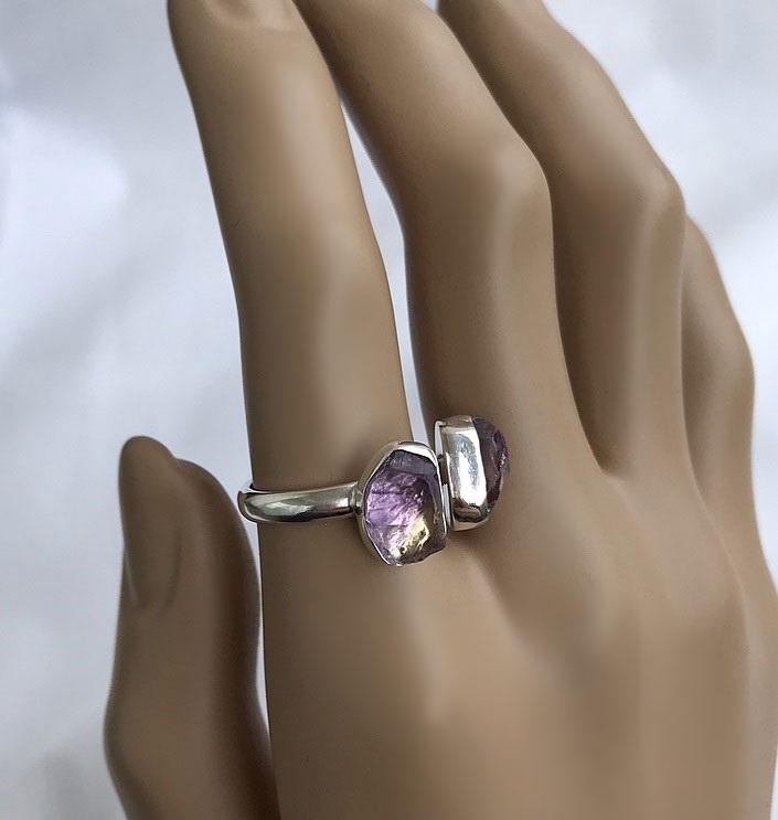 Ametrin ring i silver