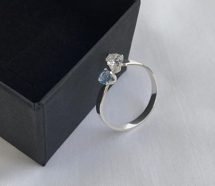Cubic zirconia ring silver