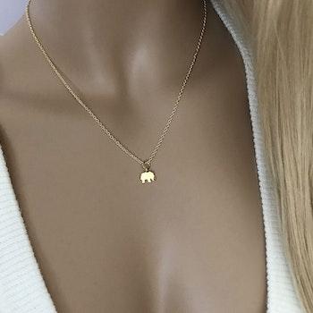 Halsband med elefant hänge