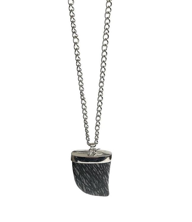 Långt halsband med jaspis hänge