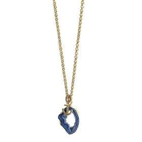 Halsband med blå Geod