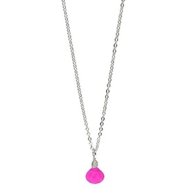 Halssmycke med rosa sten