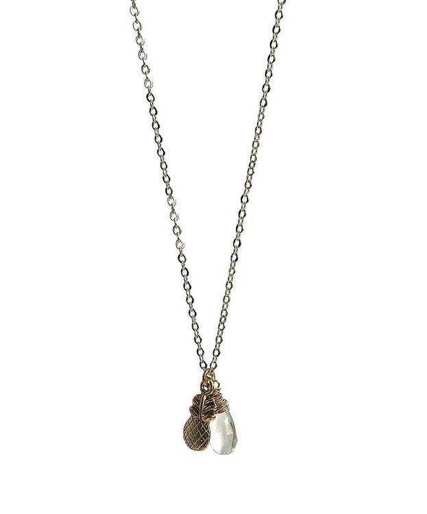 Halsband med Prasiolit droppe