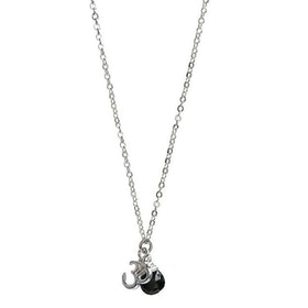 Silverpläterat halsband med hängen