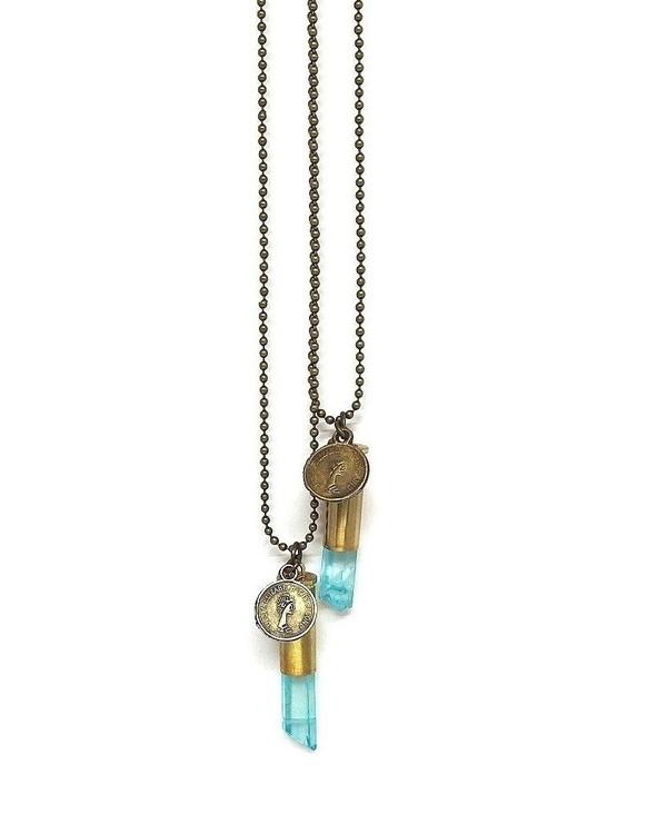 Halsband Crystal bullet