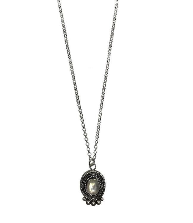 halsband månsten silver