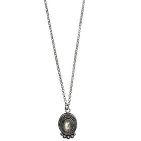 Månsten halsband silver