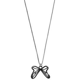 Halsband med Fjäril silver