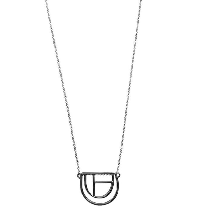 Figur halsband i silver