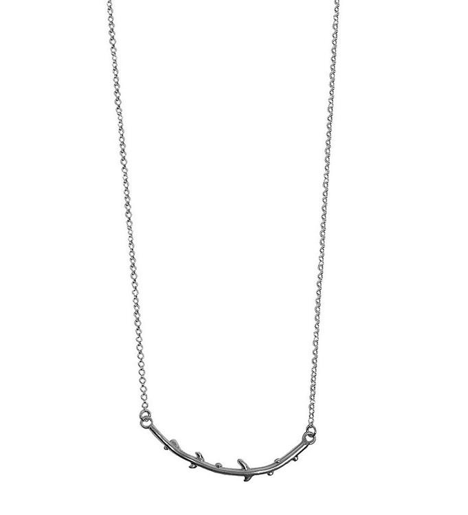 Halsband lång gren silver