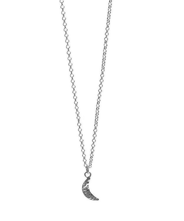 Halsband liten måne silver