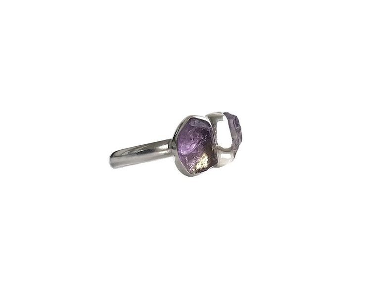 Rå ametrin ring silver
