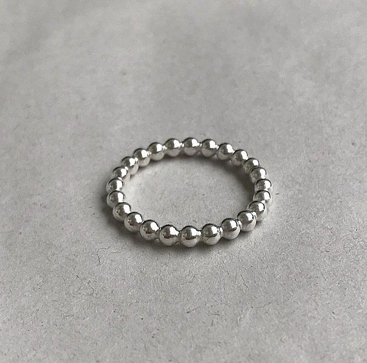 3mm tjock kulring silver