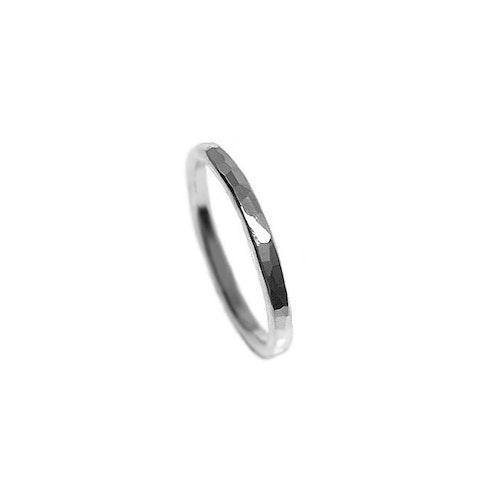Hamrad silverring