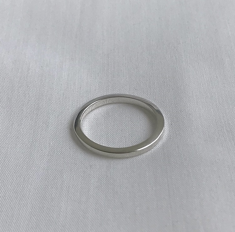 Silverring 2mm tjock