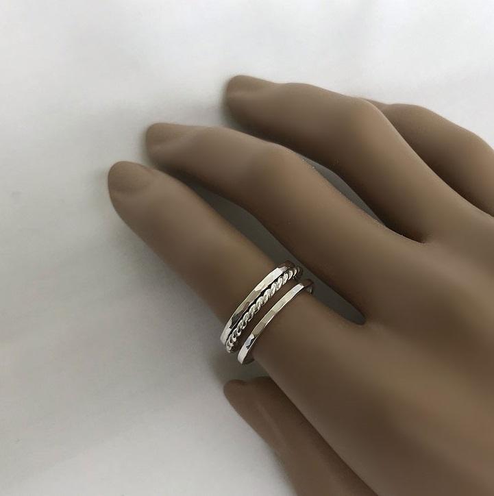 Ring set äkta silver