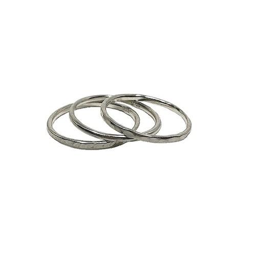 Ringar i silver flerpack