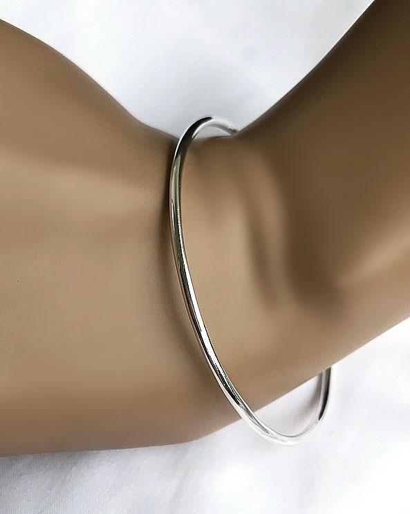 Slät armring silver